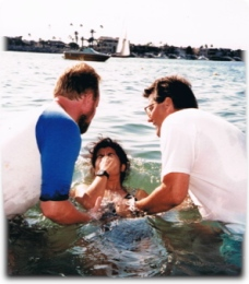 Village Church of Irvine Baptism, September 14, 1988 Corona Del Mar's Pirates Cove