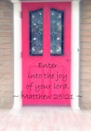 Enter in door_verse