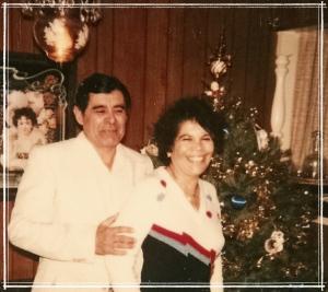 Dad and Mom on Christmas Eve ~1982